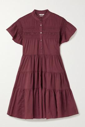 Etoile Isabel Marant Lanikaye Tiered Floral-print Cotton-voile Mini Dress - FR38