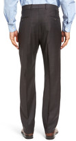 John W. Nordstrom R) Flat Front Solid Wool Trousers
