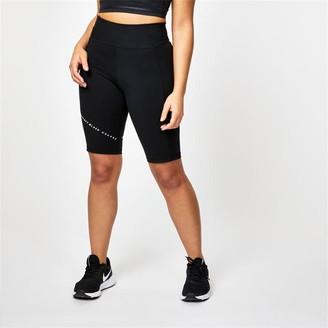 USA Pro X Courtney Black Logo Cycling Shorts