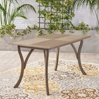Christopher Knight Home Hermosa Outdoor Acacia Wood Rectangle Dining Table
