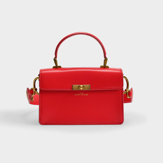 Marc Jacobs The Downton Bag In Red Leather With Polyurethane Coating