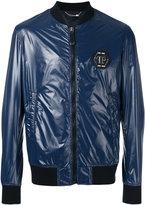 Philipp Plein glossy bomber jacket - men - Cotton/Nylon/Polyester/Spandex/Elastane - M
