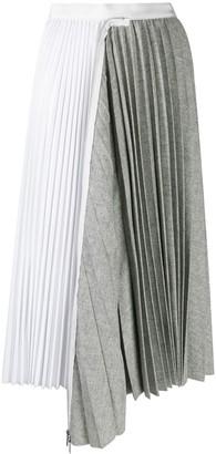 Sacai patchwork pleated skirt