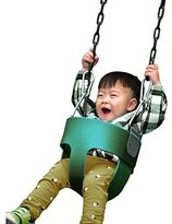 Toddler Swing Seat, Baby Outdoor High Back Full Bucket Swing Seat with Coated Chain (US STOCK)