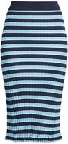 Altuzarra Bloomfield striped ribbed-knit skirt