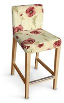 Dekoria Ikea Henriksdal bar stool cover - red & pink poppies