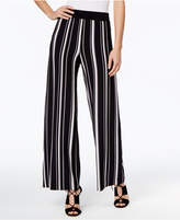 INC International Concepts Petite Striped Wide-Leg Pants, Only at Macy's