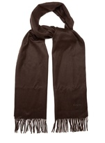 Brioni Fringed cashmere scarf