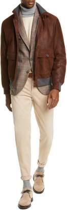 Brunello Cucinelli Colorblock Cashmere Turtleneck Sweater