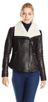 Mackage Women's Cicely Leather and Shearling Moto Jacket