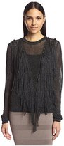 Torn By Ronny Kobo Women's Saskia Fringe Sweater