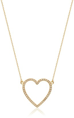 Gab+Cos Designs 14K Gold Plated Open Heart Pendant Necklace