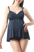 Kimi and Kai Ariana Ruched Overlay One-Piece Maternity Swimsuit