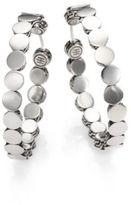 John Hardy Dot Sterling Silver Hoop Earrings/1.5