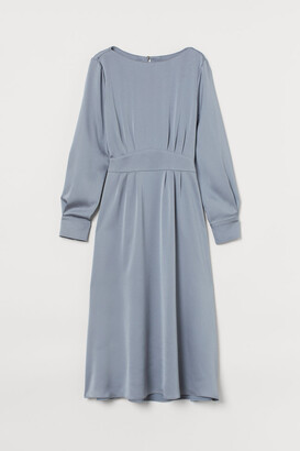 H&M Satin Dress - Gray