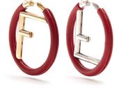 Fendi F is leather earrings