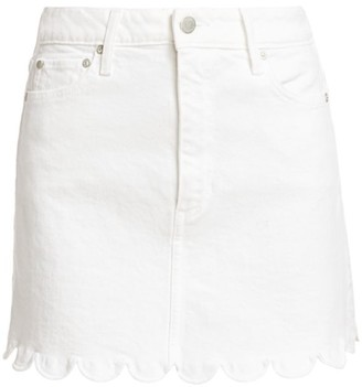 Alice + Olivia Good High-Rise Scallop Skirt