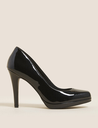 Marks and Spencer Stiletto Platform Patent Court Shoes