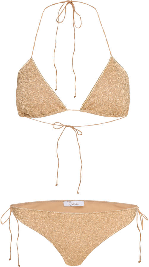 d33a1a33d8c73 Oseree Gold Women's Swimwear - ShopStyle