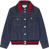 Gucci Web trim denim jacket 6-12 years