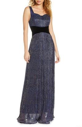 Foxiedox Amara Metallic A-Line Gown