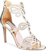 Badgley Mischka Teri Strappy Embellished Evening Sandals