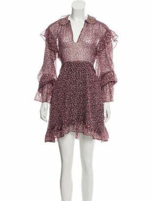 Philosophy di Alberta Ferretti Cheetah Print Silk Dress w/ Tags Red