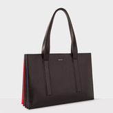 Paul Smith Women's Black 'Concertina' Small Leather Tote Bag