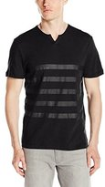 Kenneth Cole Reaction Men's Ss Henley Printed, Value Not Found