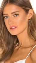 Ef Collection Mini Huggie Earring with Diamond Bezel Drop Earrings