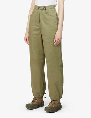 The Range Structured Cargo high-rise stretch-cotton trousers