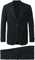 Tonello contrast piping suit - men - Cupro/Virgin Wool - 46