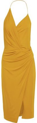 Cushnie Wrap-effect Stretch-jersey Halterneck Dress