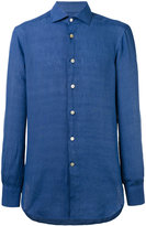 Kiton plain shirt - men - Linen/Flax - 41