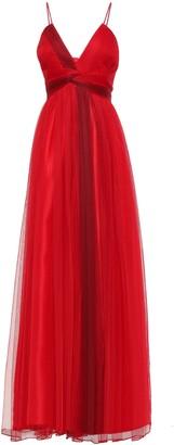 Zac Posen Twist-front Tulle Gown