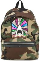 Saint Laurent Sweet Dreams City backpack - men - Cotton/Polyester/Brass - One Size