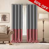 Nursery & Infant Care Light Blocking Drapes Grommet Blackout Two Tones Curtains (Grey & Strawberry Pink, 52 by 96 inch, 2 Panels)