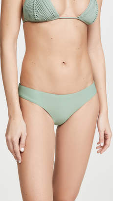 Pilyq Basic Ruched Full Bikini Bottoms