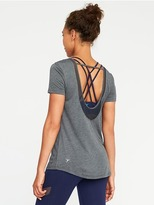 Old Navy Go-Dry Ultra-Light Mesh-Trim Scoop-Back Tee for Women