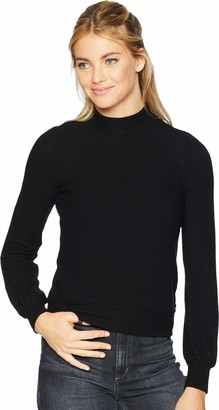 Three Dots Women's QQ2666 Brushed Sweater Puff SLV top