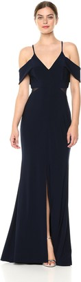 Xscape Evenings Women's Long Illusion Waist Dress