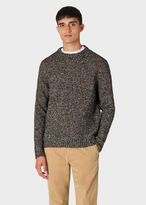 Paul Smith Men's Black Oversized Wool-Blend Twisted-Yarn Sweater