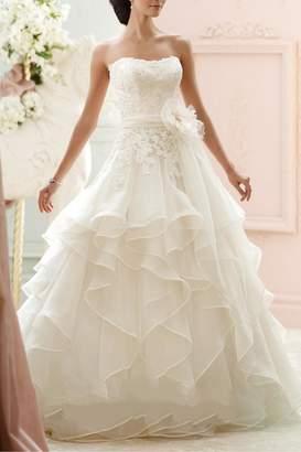David Tutera For Mon Cheri Organza Ballgown Bridal Dress