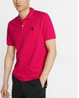 Express garment dyed small lion pique polo