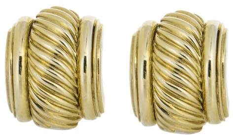 David Yurman 18K Yellow Gold Cable Earrings