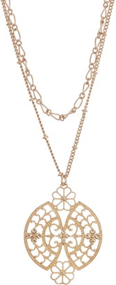 Area Stars Filigree Double Layer Necklace