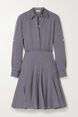 Jason Wu Striped Poplin Mini Shirt Dress - Navy
