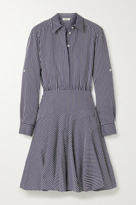 Jason Wu Striped Poplin Mini Shirt Dress - Navy