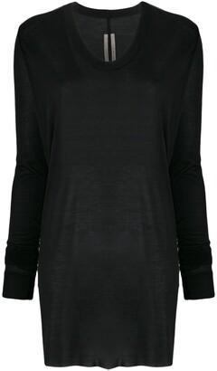 Rick Owens Long-Sleeved Silk Top