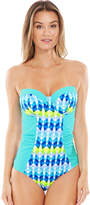 Midnight Grace by figleaves.com Lagoon Underwired Bandeau Tummy Control Swimsuit